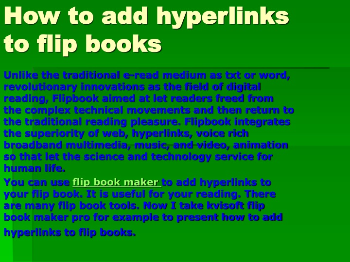 how to add hyperlinks to flip books n.