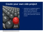 create your own side project