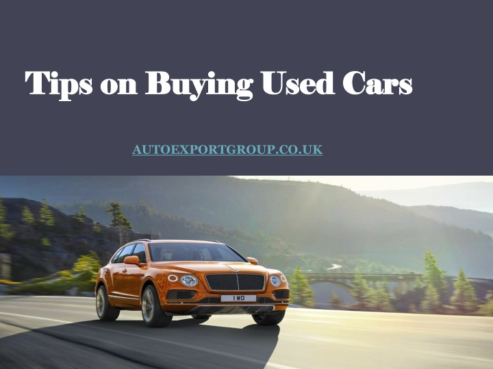 tips on buying used cars n.