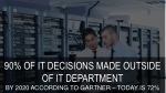 90 of it decisions made outside of it department