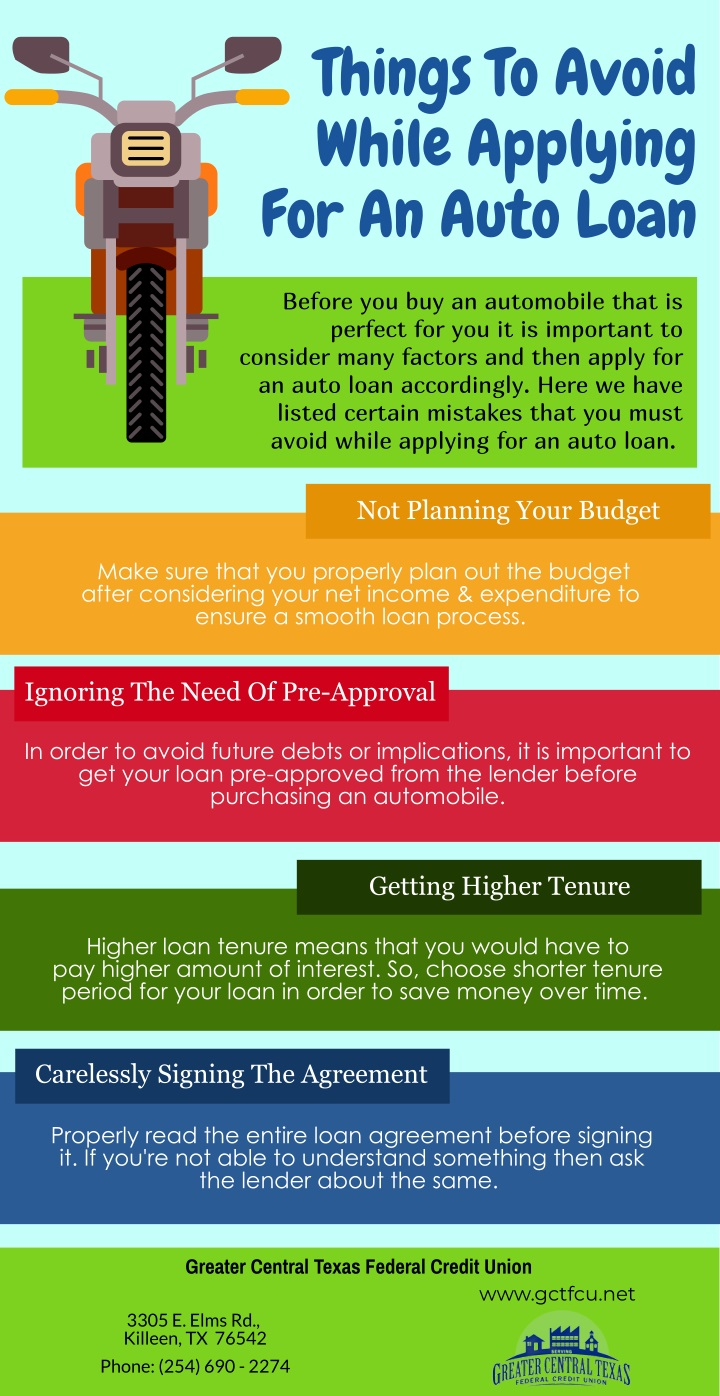 things to avoid while applying for an auto loan n.