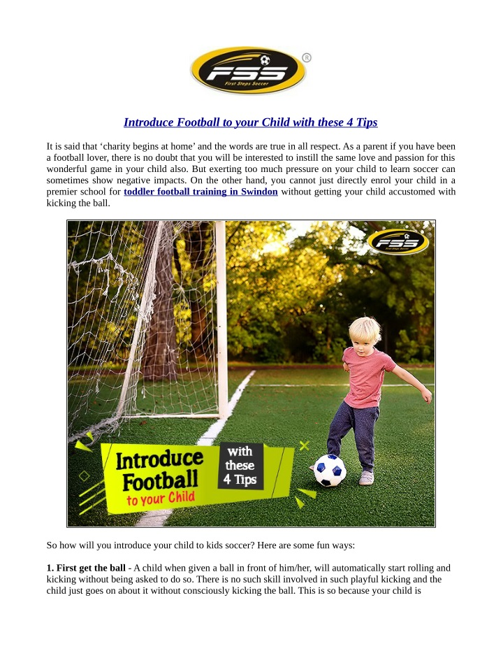 introduce football to your child with these 4 tips n.