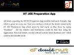 iit jee preparation app