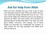 ask for help from allah
