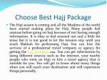 choose best hajj package