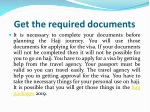 get the required documents
