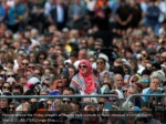 people attend the friday prayers at hagley park
