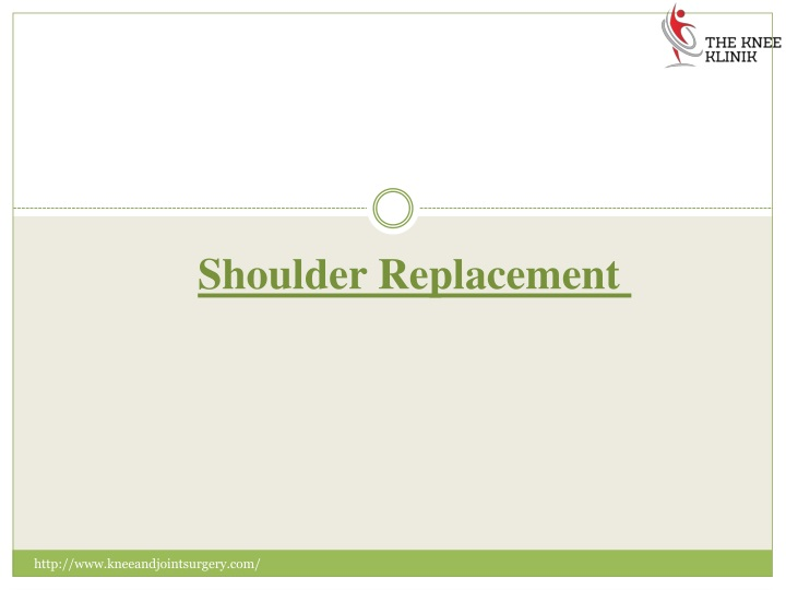 shoulder replacement n.