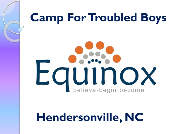 camp for troubled boys n.