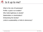 is it up to me what is the role of businesses