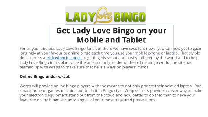 get lady love bingo on your mobile and tablet n.