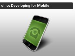 ql io developing for mobile