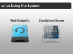ql io using the system