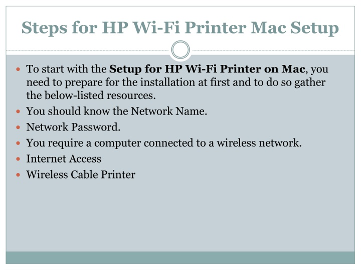 PPT - How to do HP Wi-Fi Printer Mac Setup? PowerPoint Presentation