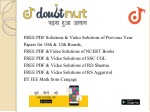 free pdf solutions video solutions of previous