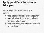 apply good data visualization principles