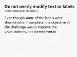 do not overly modify text or labels unless