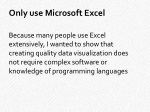 only use microsoft excel