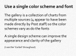 use a single color scheme and font