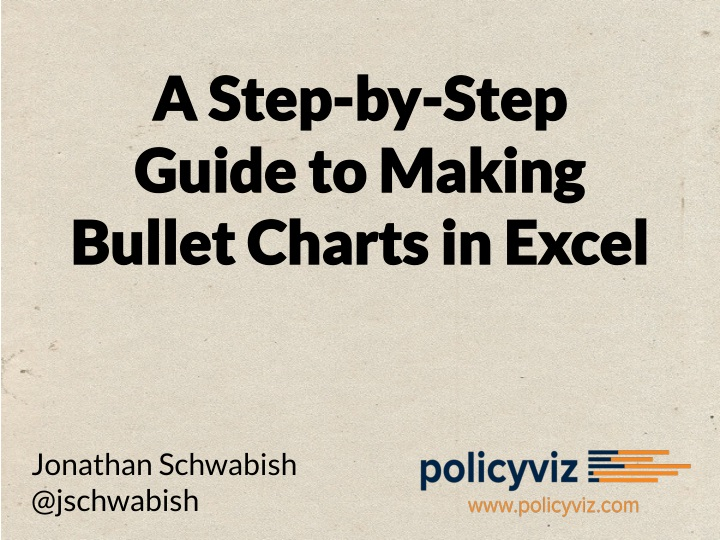 a step by step guide to making bullet charts n.