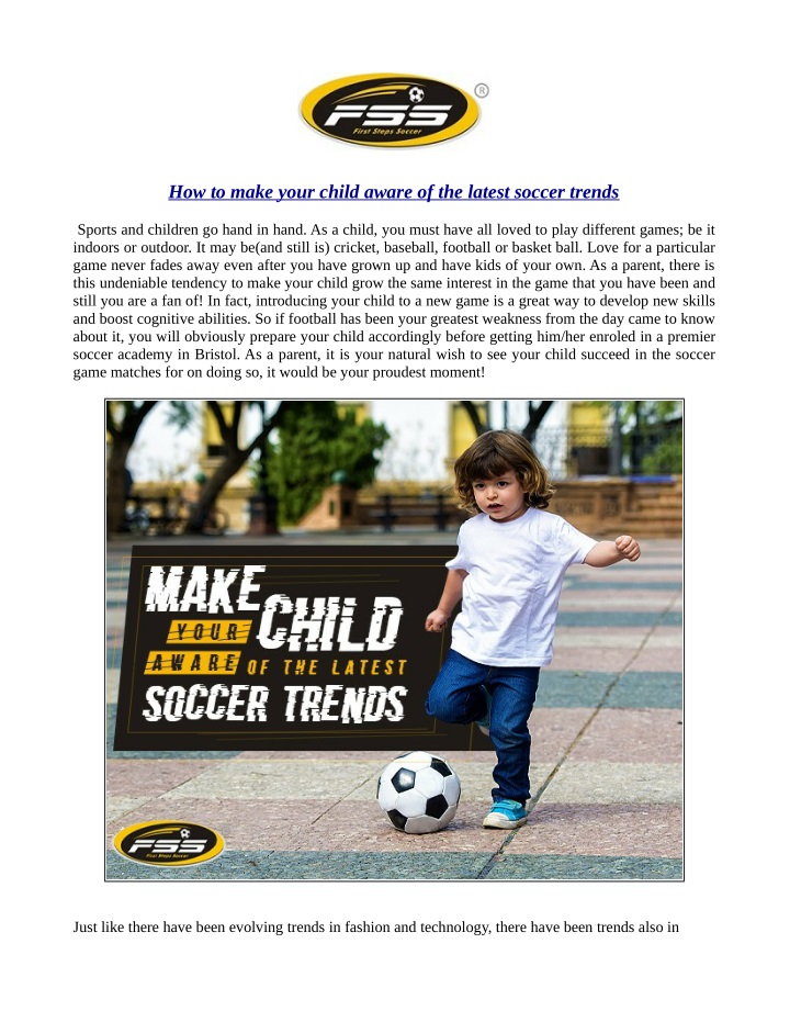 how to make your child aware of the latest soccer n.