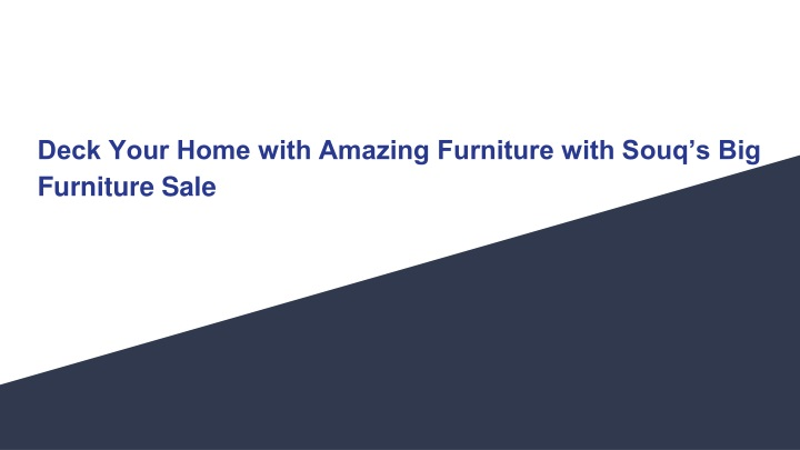 deck your home with amazing furniture with souq s big furniture sale n.