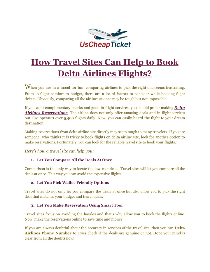 how travel sites can help to book delta airlines n.