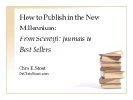 how to publish in the new millennium from