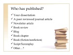 who has published