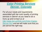 color printing services denver colorado