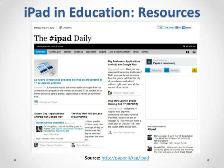 PPT - iPad and SmartBoard: A Great Duo to Boost your Classes