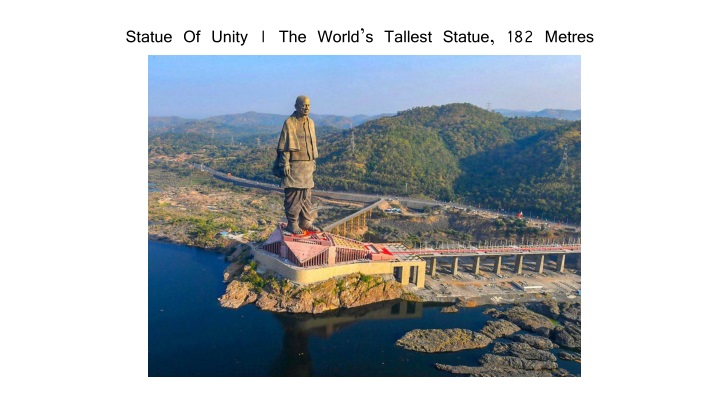 statue of unity the world s tallest statue 182 metres n.