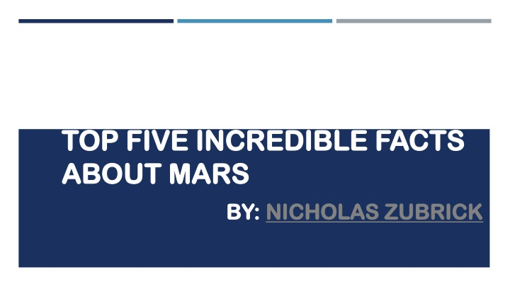 top five incredible facts about mars n.