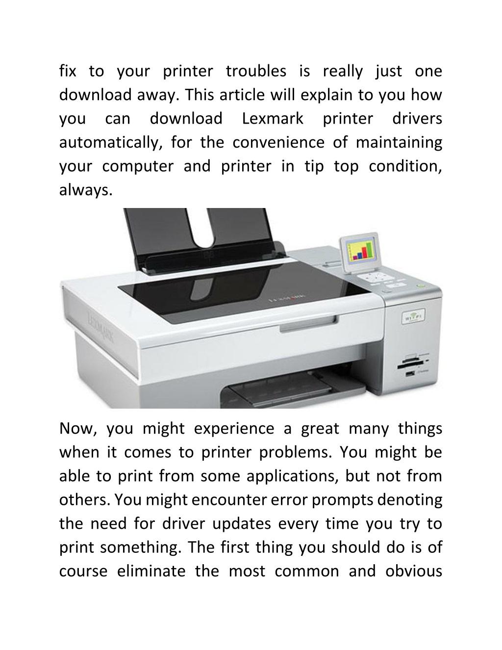 Lexmark printer drivers for mac