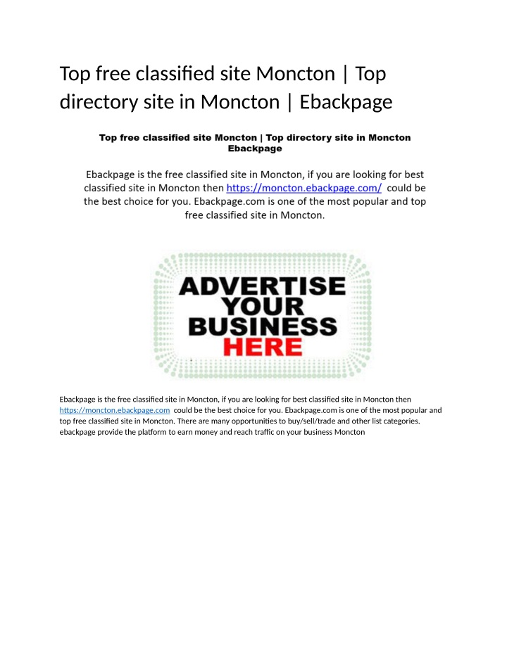 top free classified site moncton top directory n.