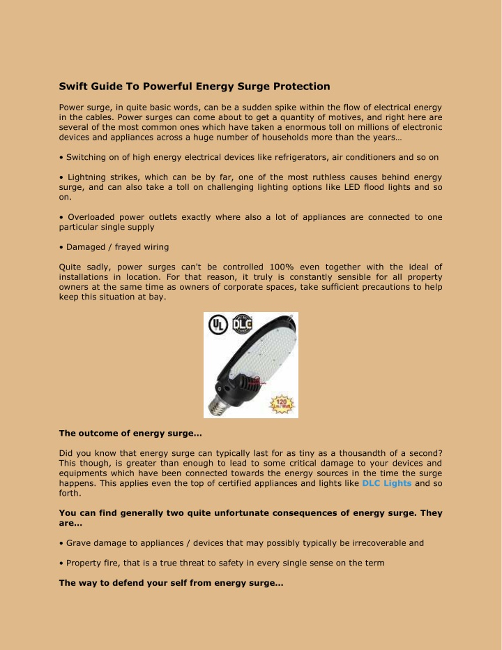 swift guide to powerful energy surge protection n.