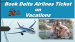 book delta airlines ticket on vacations