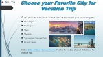 choose your favorite city for vacation trip