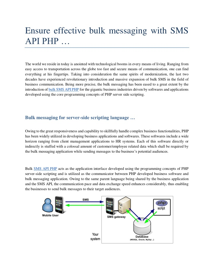 ensure effective bulk messaging with sms api php n.