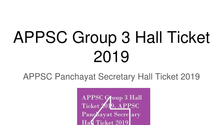 appsc group 3 hall ticket 2019 n.
