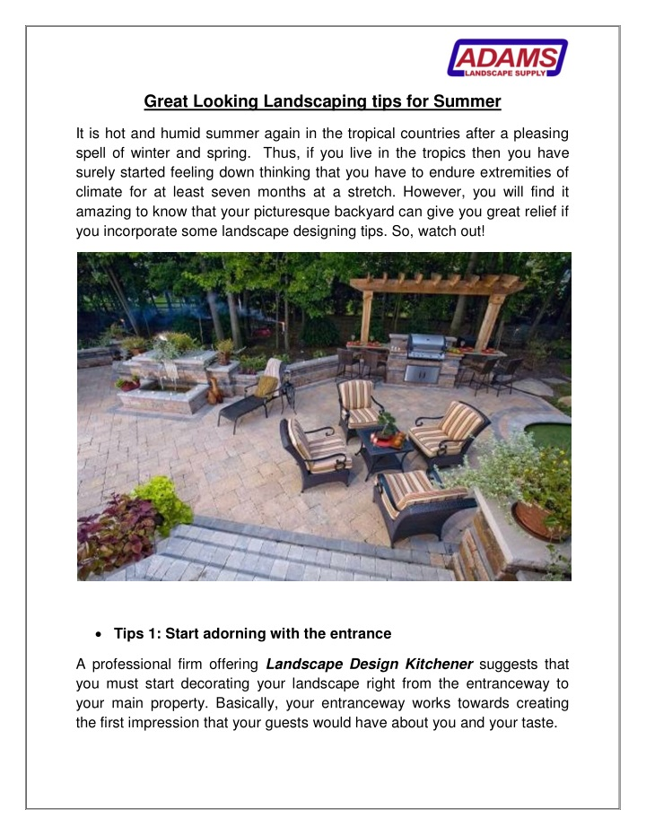 great looking landscaping tips for summer n.
