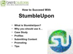 ul li how to succeed with li ul ul li stumbleupon
