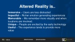 altered reality is