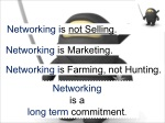 networking is not selling