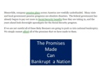 the promises made can bankrupt a nation