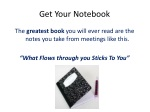 get your notebook