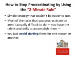 how to stop procrastinating by using the 2 minute