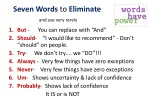 seven words to eliminate