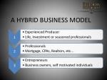 a hybrid business model