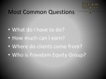 most common questions